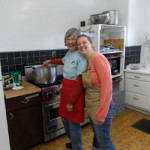 Making soup at the Bridge Shelter